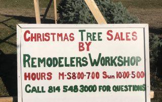 christmas tree sales sign