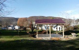 patio with gazebo